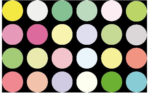 春のカラーチャート・色見本