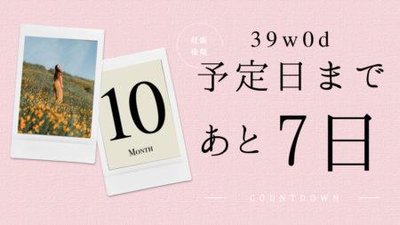 予定日まで7日-4日(39w0d-3d)ブログ